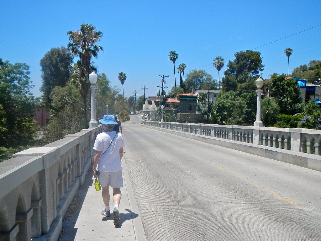 crossing the shakespeare bridge dtla silverlake los angeles