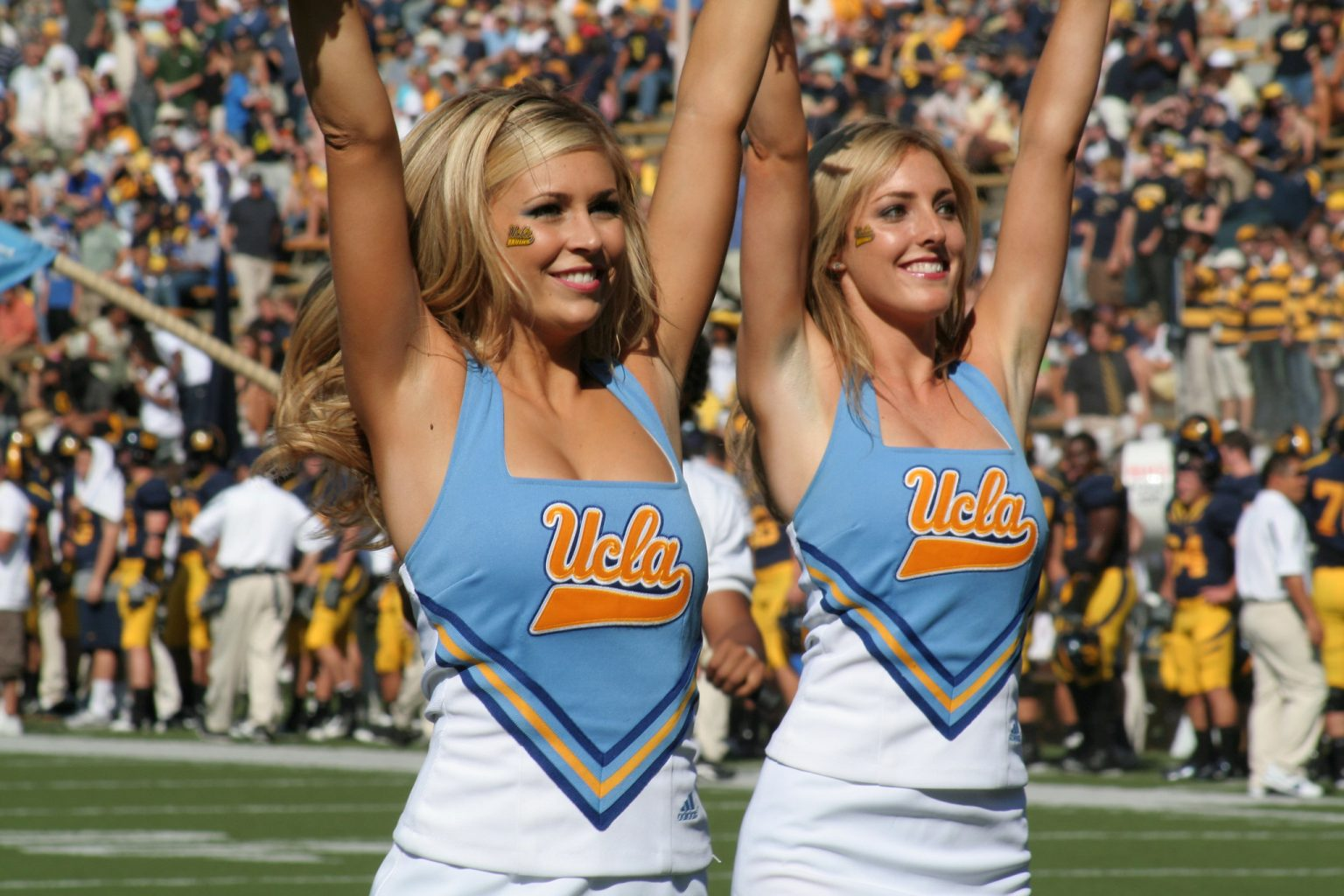 ucla cheerleaders football basketball