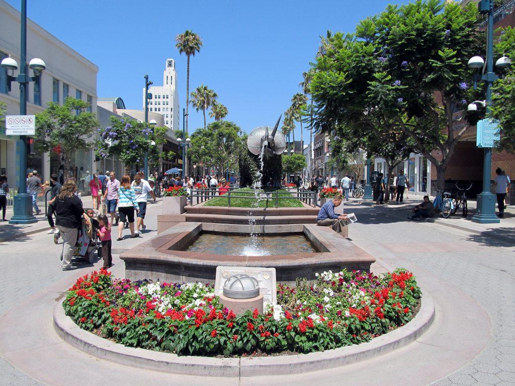 third street promenade santa monica west la