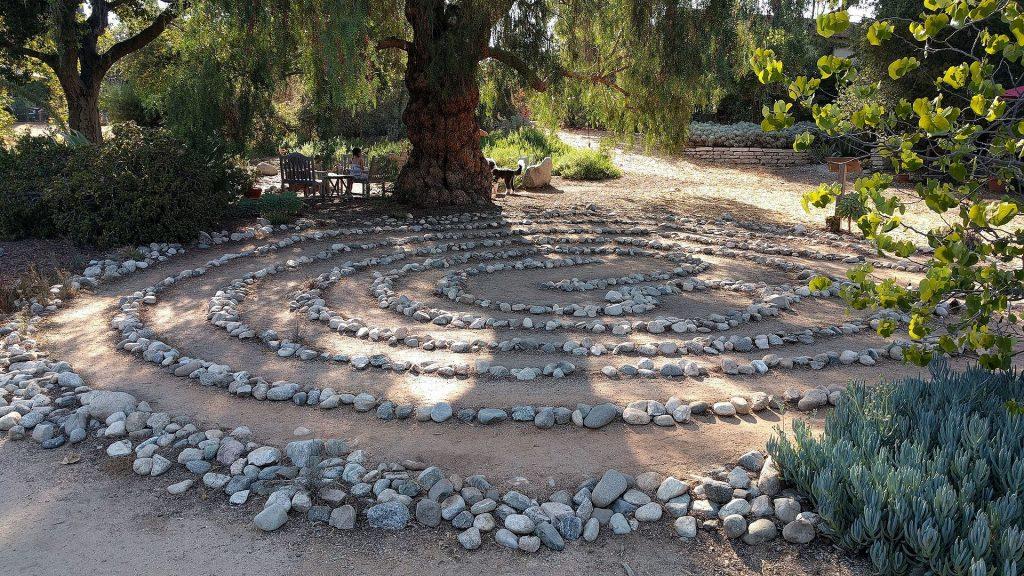 arlington garden rock maze spiral
