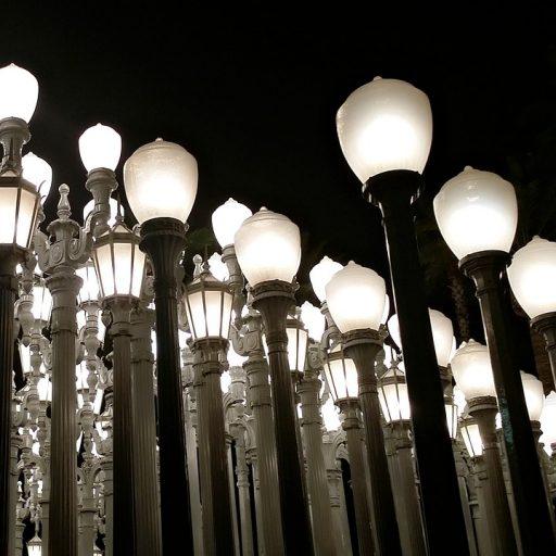 lacma lights statue