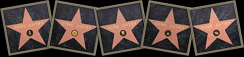 gene autry singing cowboy walk of fame five stars
