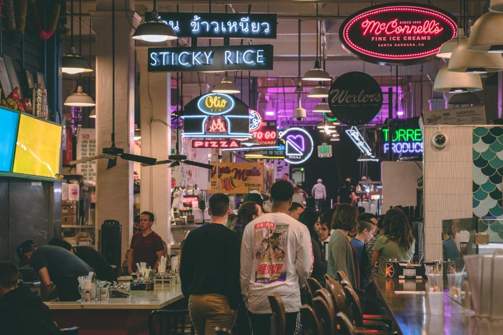 grand central market dtla los angeles interior stores restaurants