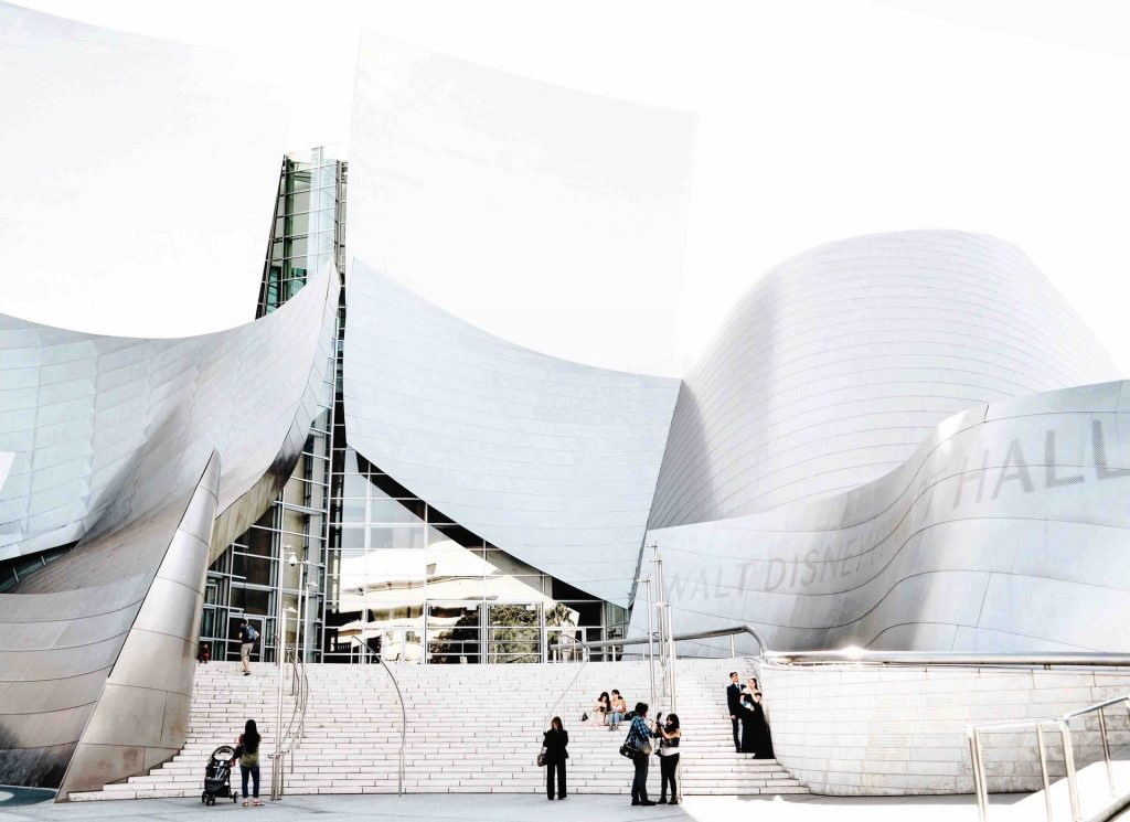la phil walt disney concert hall exterior architecture
