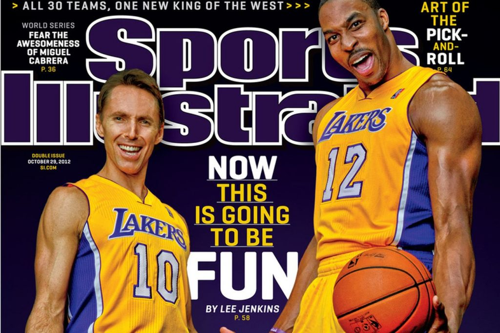 los angeles lakers steve nash dwight howard sports illustrated cover