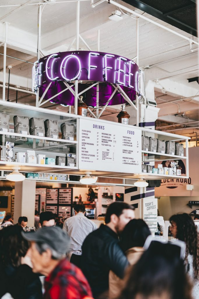 dtla grand central market coffee interior restaurant