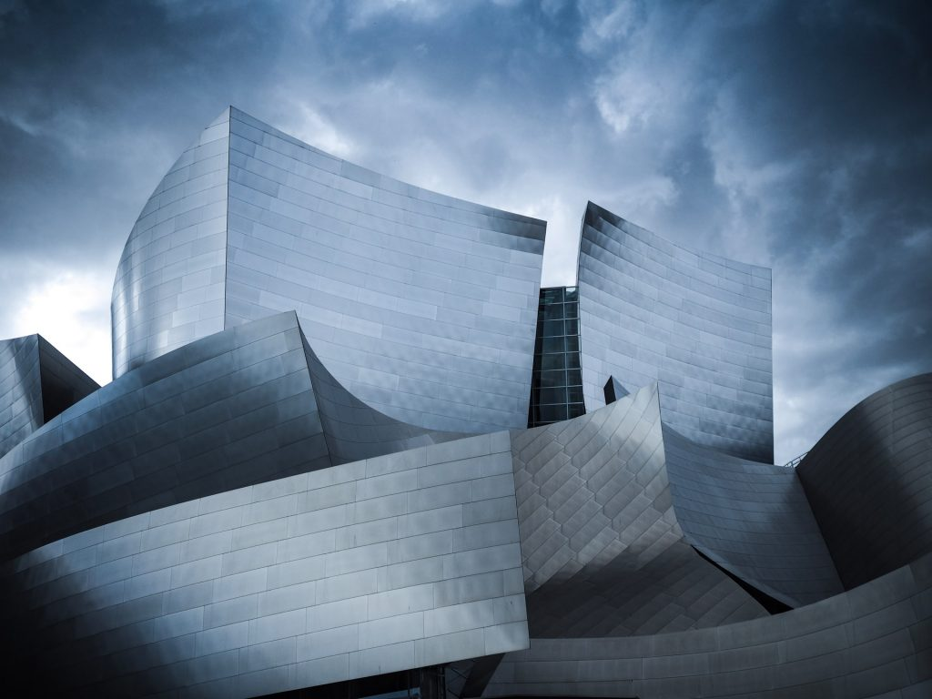 los angeles walt disney concert hall epic picture hdr cloudy grey