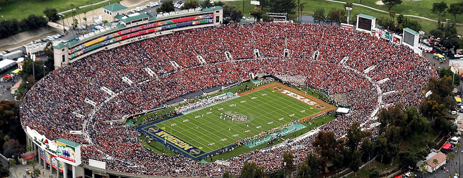 Pasadena's Finest Stadium for Concerts, Fireworks, and Football Games: Rose Bowl