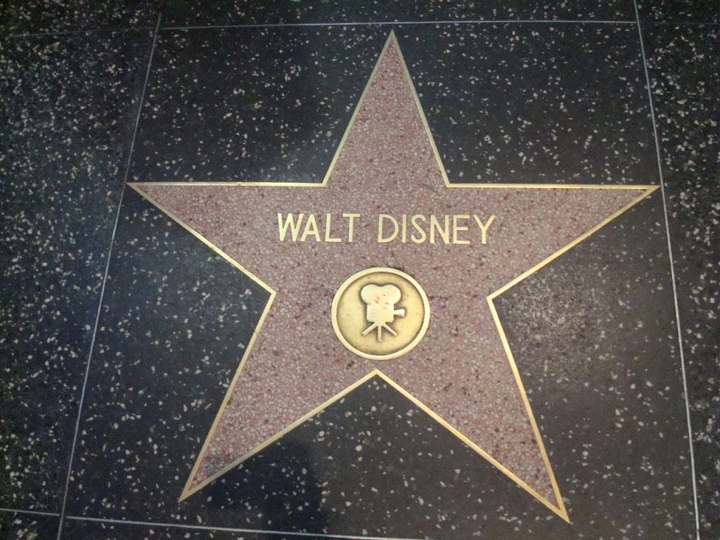 walt disney hollywood star walk of fame