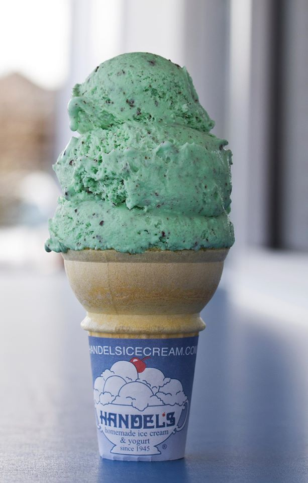 handels mint chocolate chip cone ice cream redondo beach