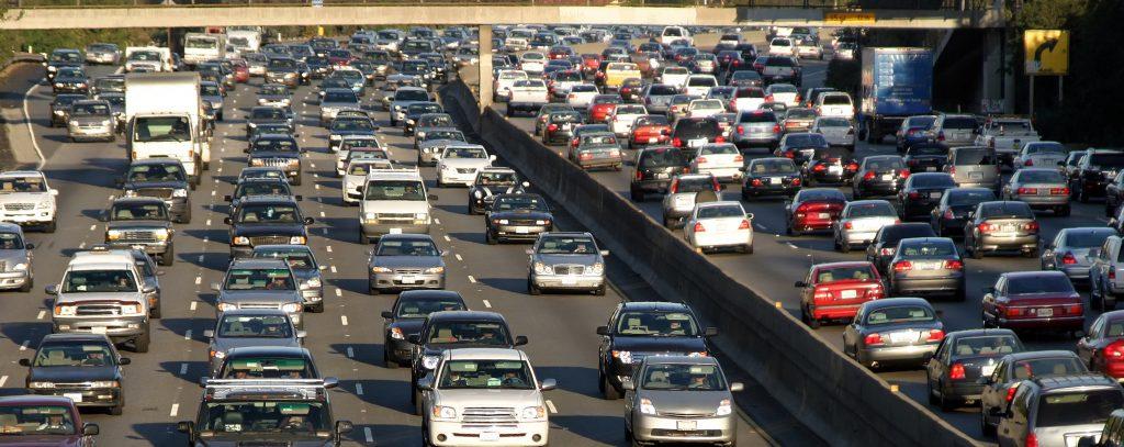 bad los angeles traffic highway
