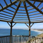 malaga cove rat beach lookout wooden overhead viewpoint