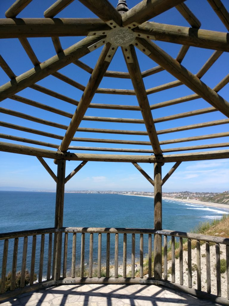 malaga cove rat beahc lookout wooden overhead viewpoint