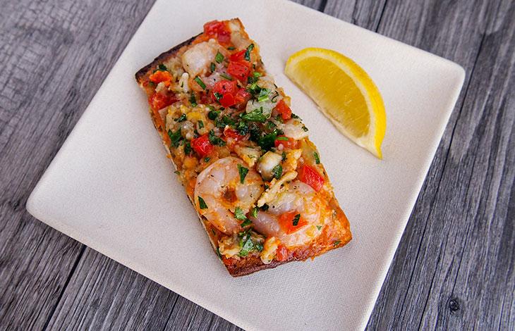 bruin plate bplate shrimp pizza ucla