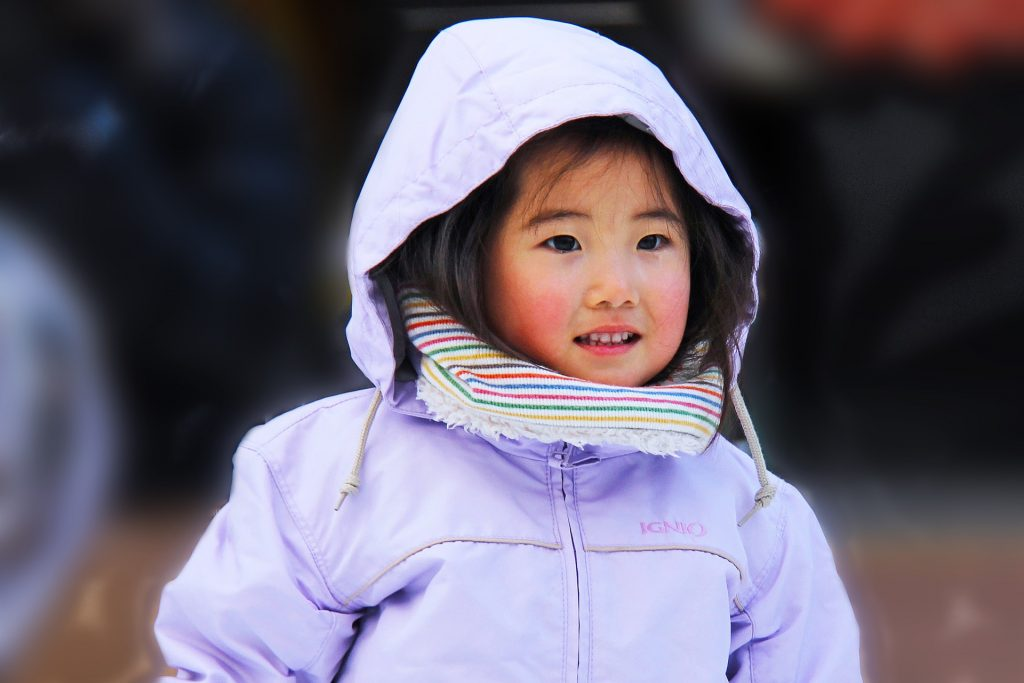 asian baby girl cold jacket