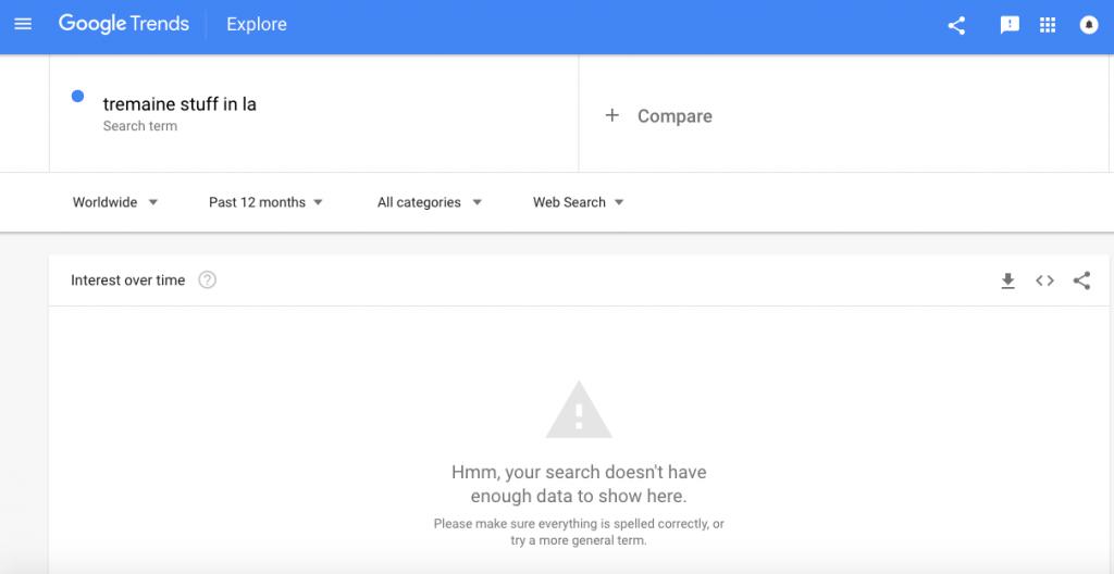 google trends stuff in la
