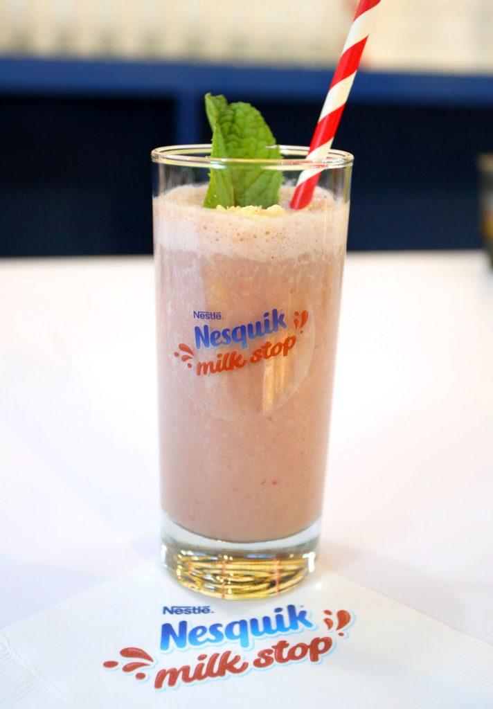 banana raspberry shake