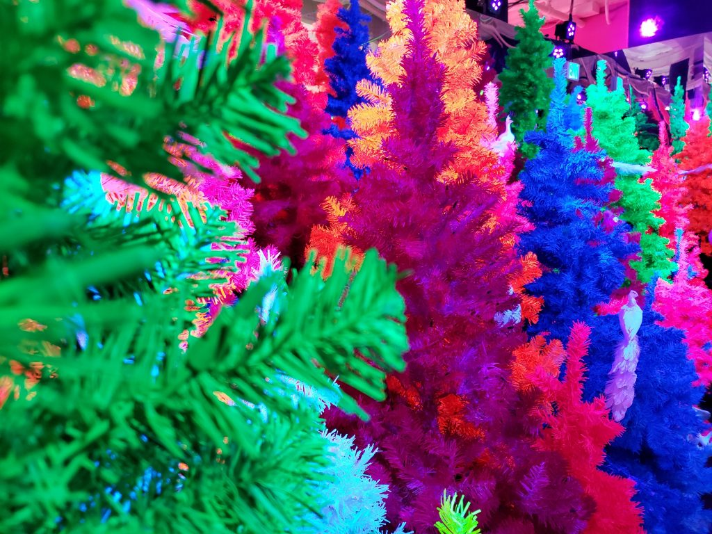 christmas trees neon falaland fa la land