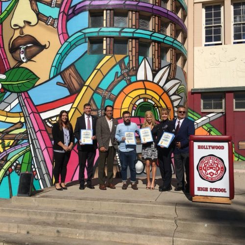 Hollywood High School Celebrates Diversity with New Mural led by the Israeli Consulate in LA
