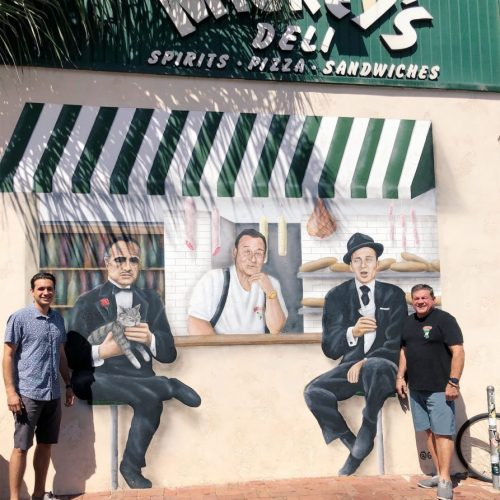 New Mickey Mance, Marlon Brando, Frank Sinatra Mural at Mickey's Deli in Hermosa Beach