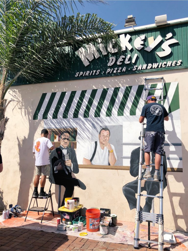 mickeys deli portrait painting