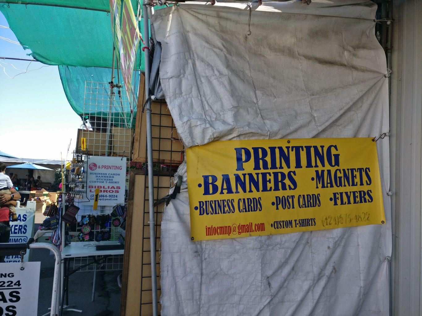 printing banners at roadium open air flea market torrance gardena booth