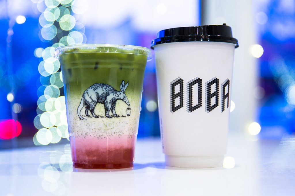 boba guys drink milk tea asian cup strawberry matcha sugar