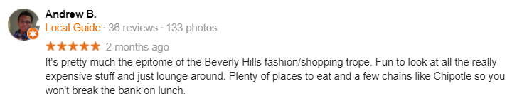 rodeo drive funny google review beverly hills