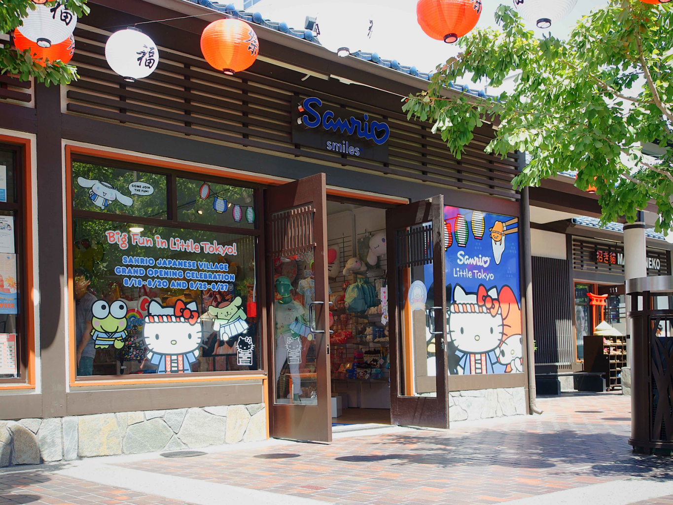 sanrio little tokyo storefront los angeles