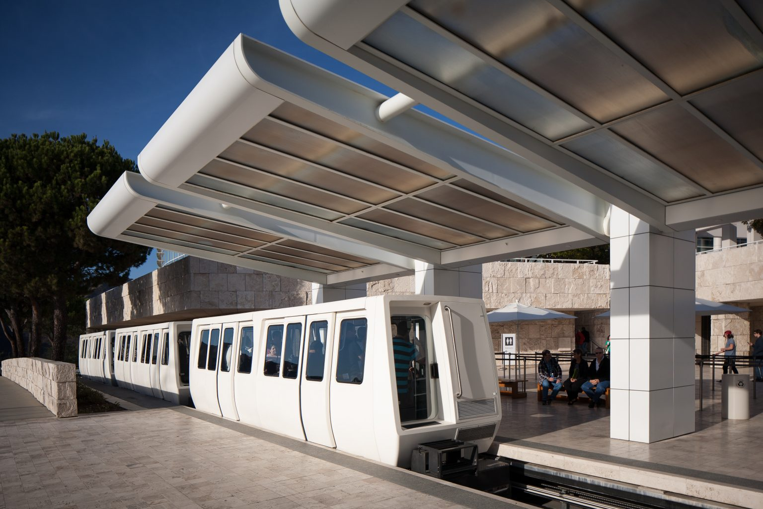 getty center tram station los angeles west la