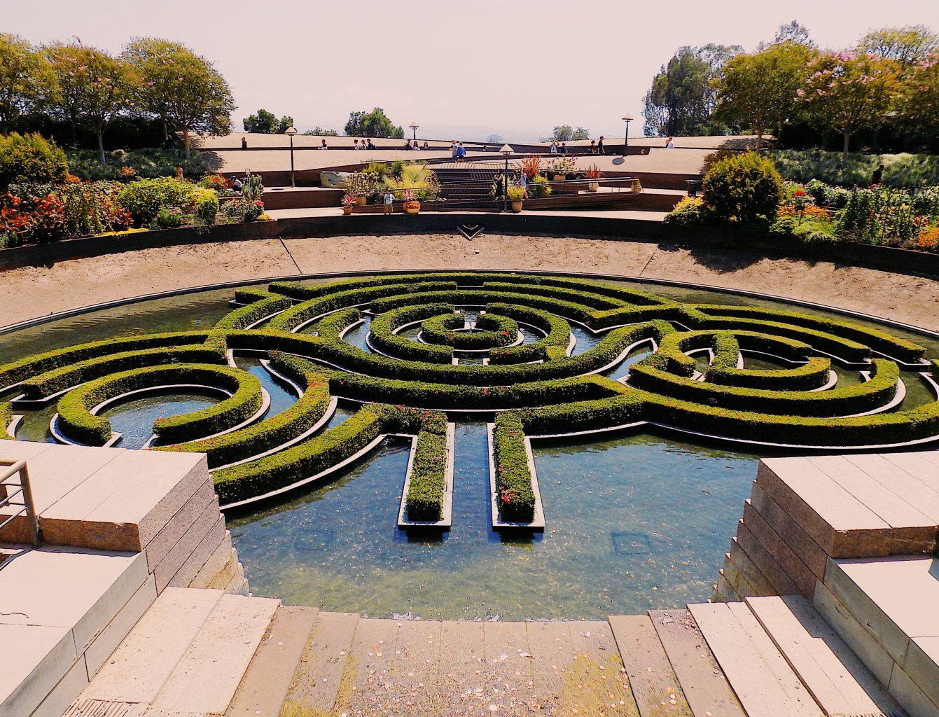 gardens getty center fountain beautiful wow