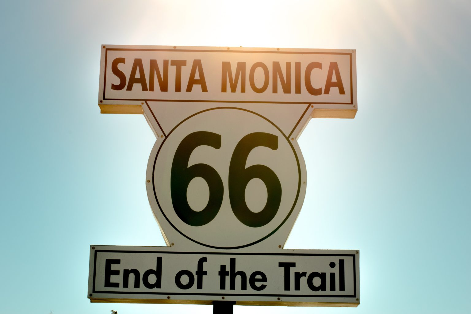 end of the trail 66 sign