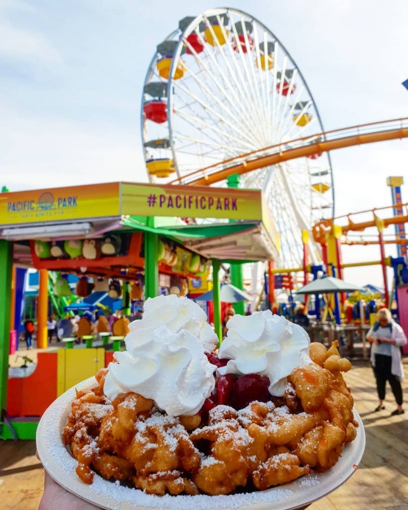 funnel cakes pacific park santa monica los angeles