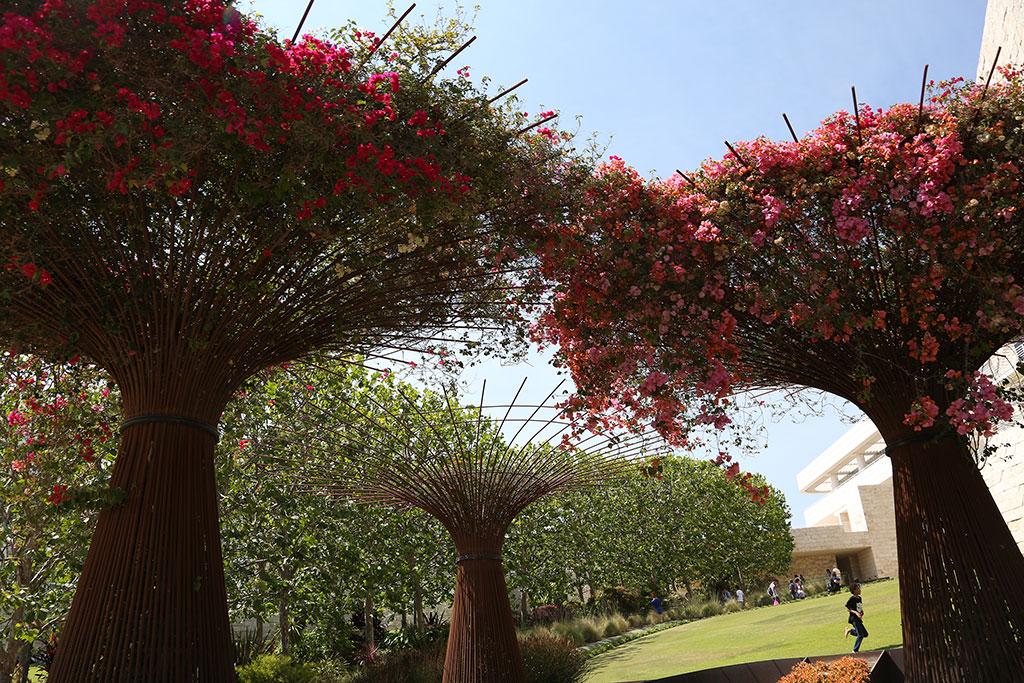 gardens getty center flower sculpture