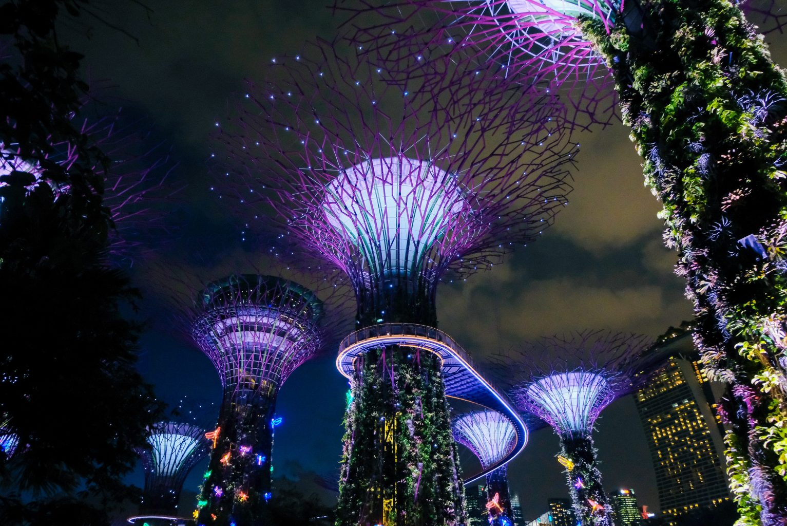 Gardens by the bay singapore flower sculptures