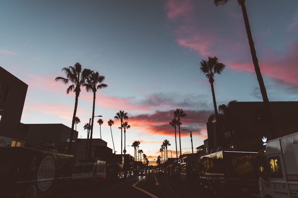 abbot kinney blvd boulevard picture sunset mood los angeles west