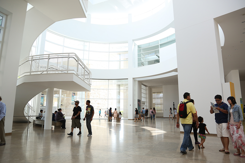 natural light getty center people inside