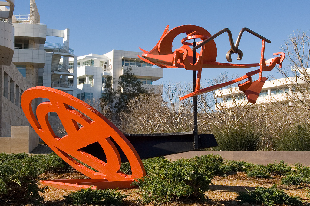 sculpture orange getty center los angeles west la brentwood