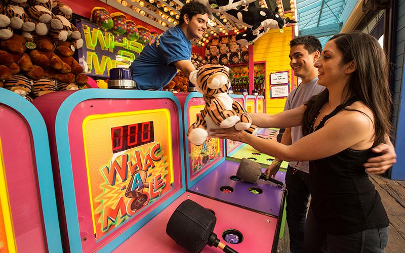 whac-a-mole whack a mole game santa monica pacific park
