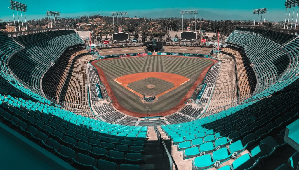 dodger stadium la los angeles dtla baseball stadium inside shot