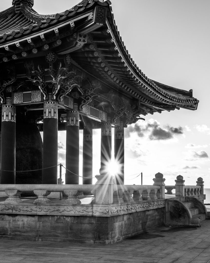 korean friendship bell angels gate park epic shot los angeles san pedro