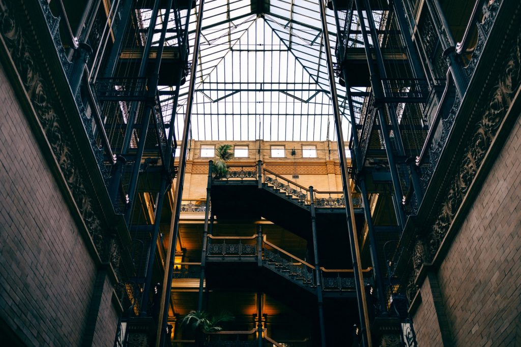bradbury building dtla downtown los angeles inception