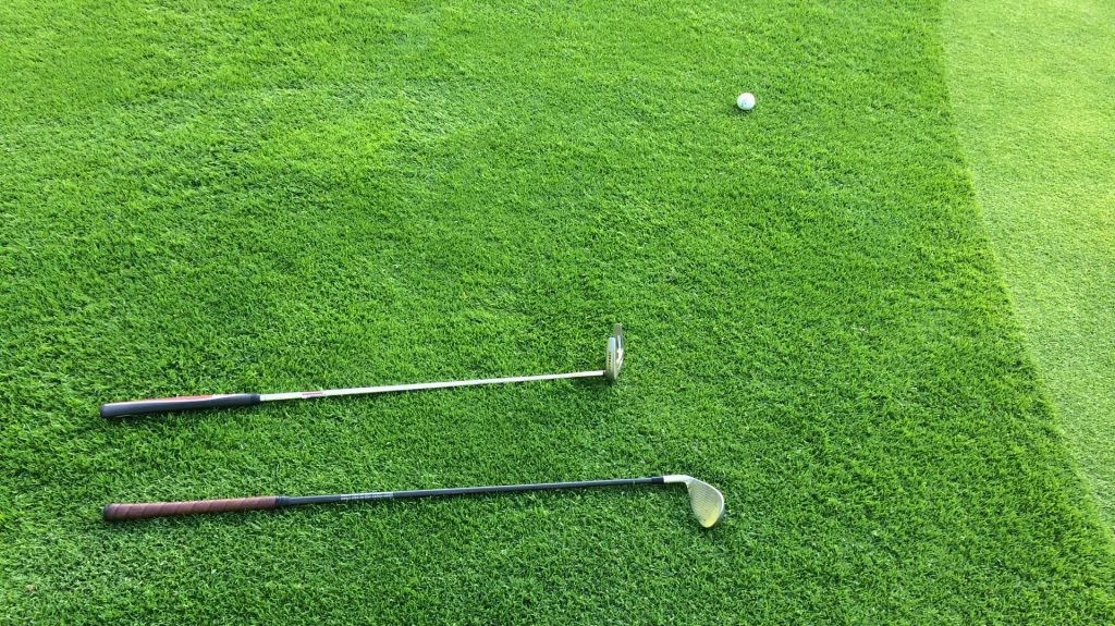 golf club monterey park two clubs lying down next to the green