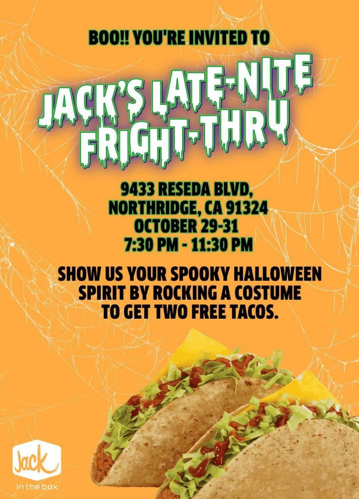 jack in the box haunted house drive thru northridge sfv