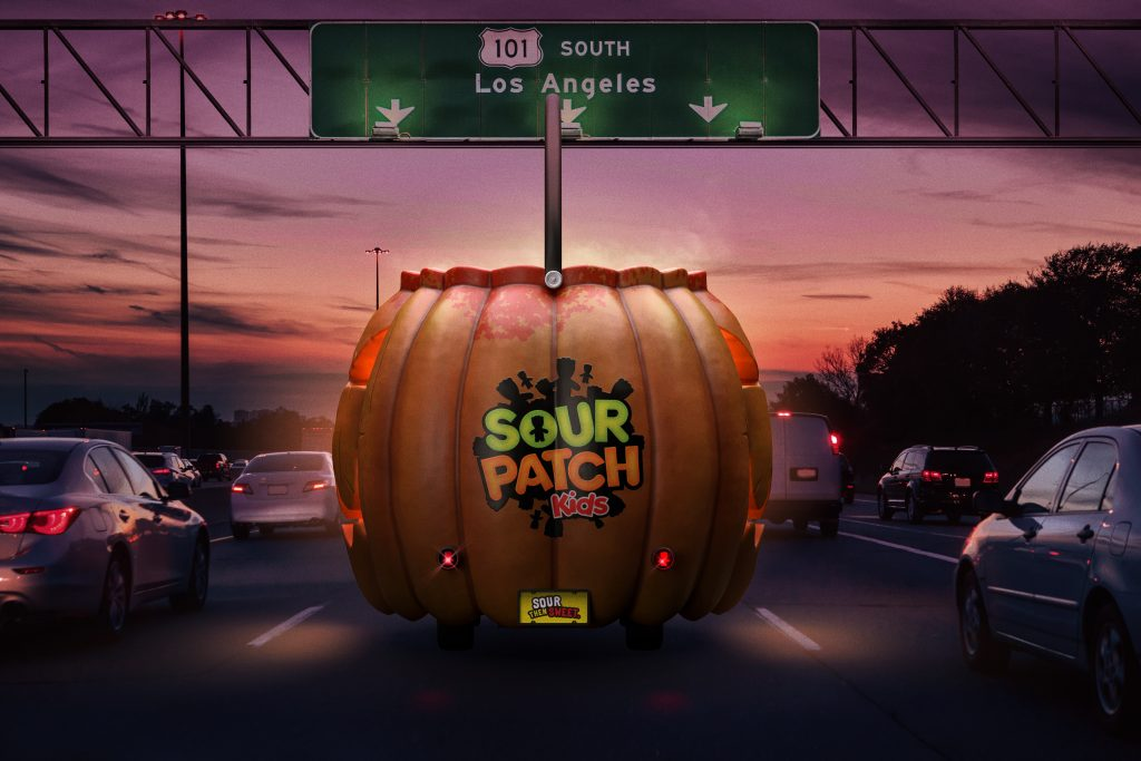 sour patch kids haunted jack o'lantern pumpkin los angeles