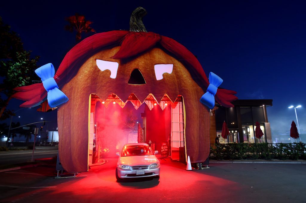 wendys scary halloween haunted house drive thru