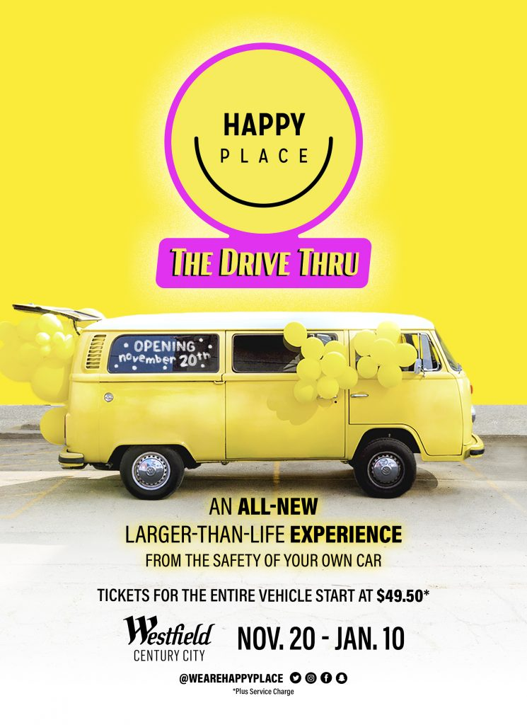 happy place experience car safe covid 2020 los angeles westfield
