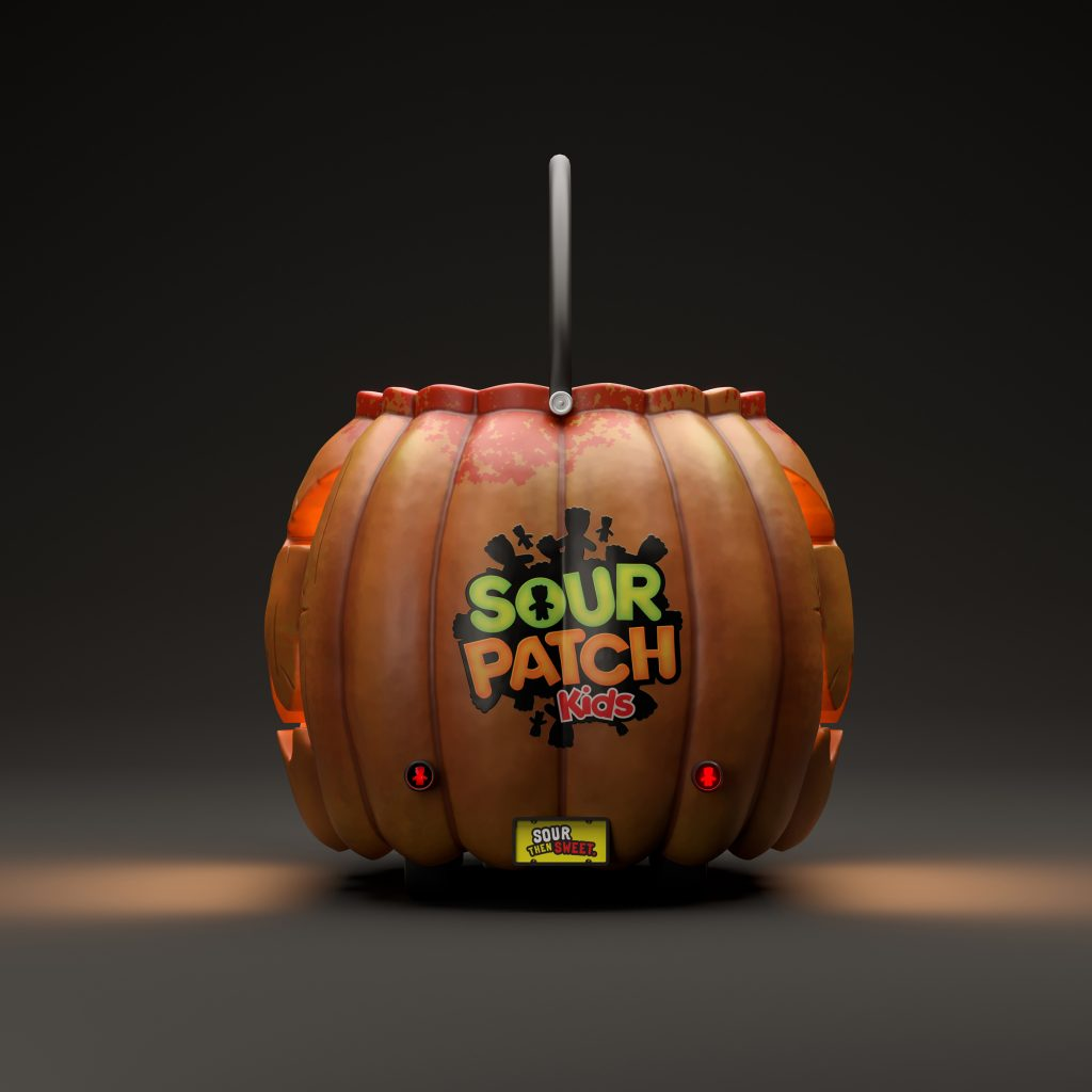 sour patch kids lantern jack o' pumpkin car