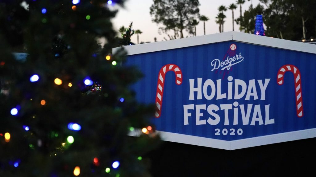 los angeles dodgers holiday drive thru candy cane lane