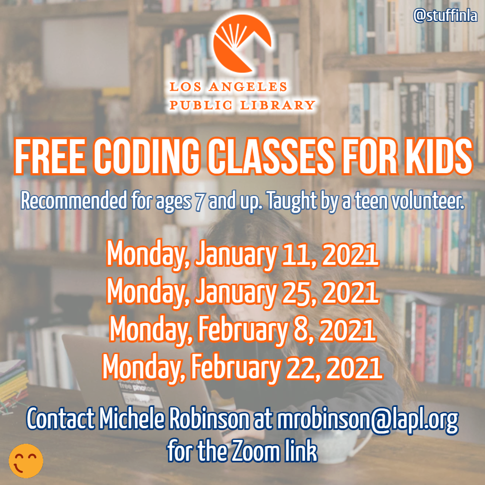 los angeles public library coding classes kids
